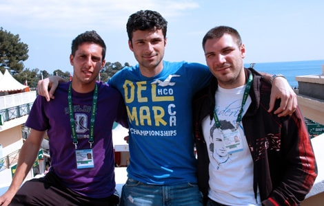 Nicola Corrente, Fabio Colangelo e Alessandro Nizegorodcew