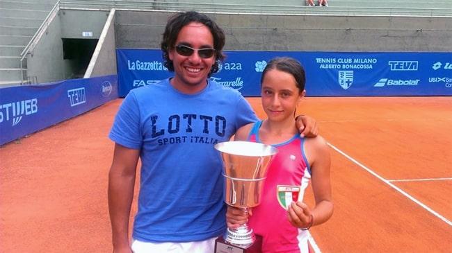 Sebastian Vazquez e Elisabetta Cocciaretto