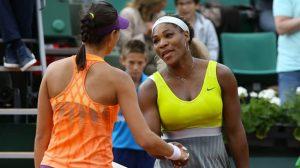 Garbine Muguruza e Serena Williams