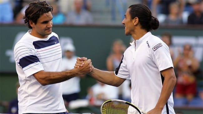 Roger Federer e Guillermo Canas