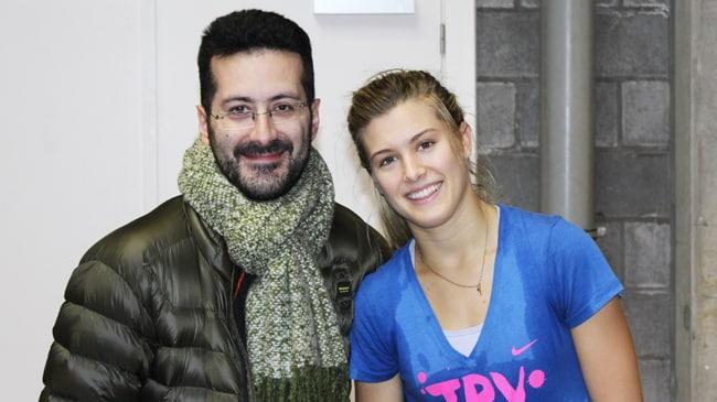 Francesco Di Mauro ed Eugenie Bouchard