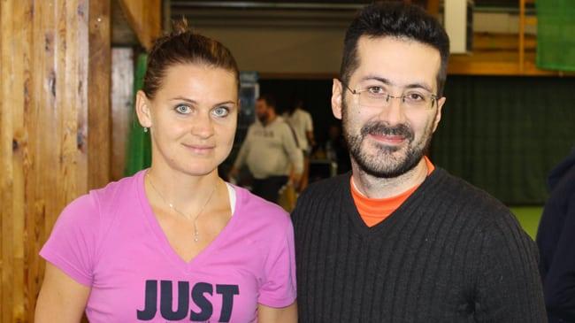 Francesco Di Mauro e Lucie Safarova