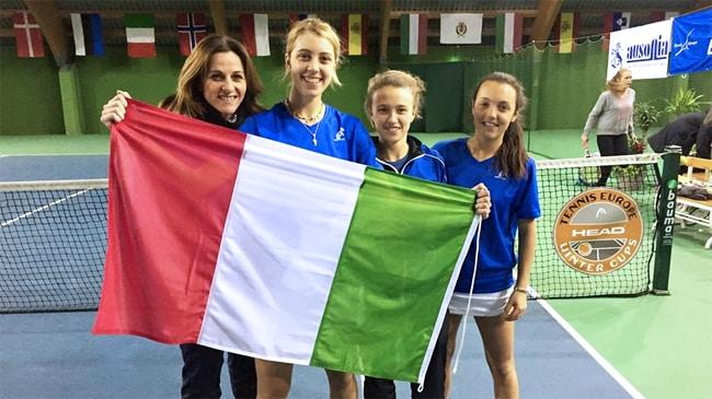 Silvia Farina, Federica Bilardo, Elisa Visentin e Tatiana Pieri
