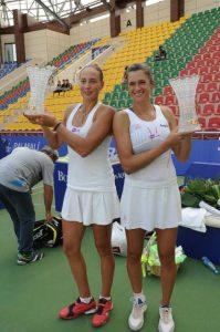 Irina Buryachok festeggia il titolo in doppio a Baku