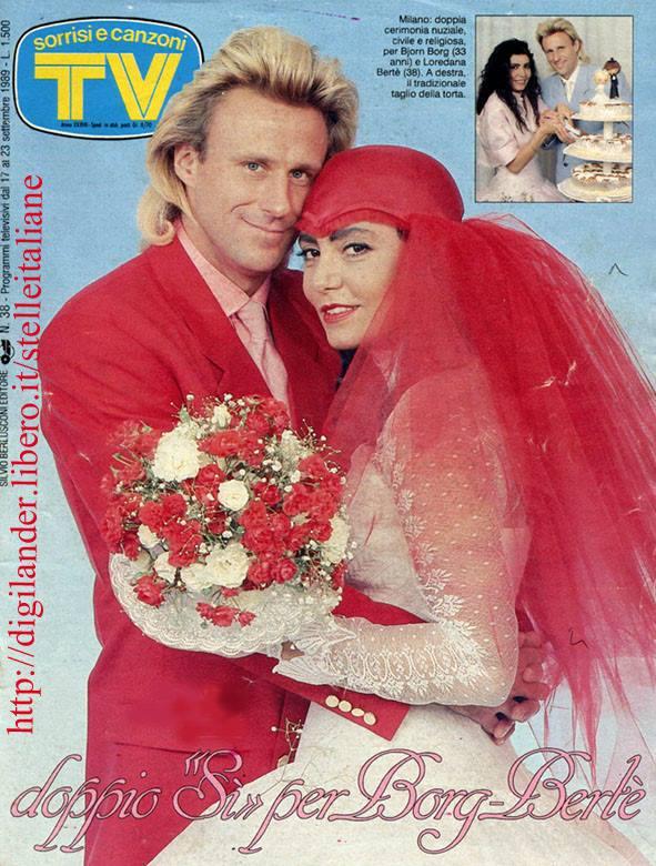 Copertina Tv Sorrisi e Canzoni - matrimonio Borg-Bertè